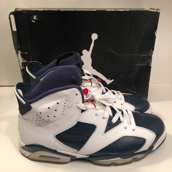 free shipping 003d5 9ed90 Jordan Other - 2012 Jordan Retro VI 6 Olympic White Navy Sz 11.5